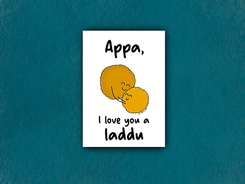 appa, i love you a laddu
