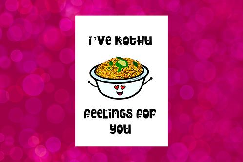 I've kothu feelings for you