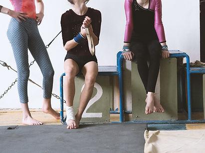 Les filles dans un gymnase