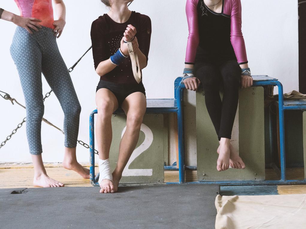 Mädchen in einem Fitnessstudio