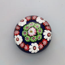 Antique Clichy Miniature Rose Paperweight