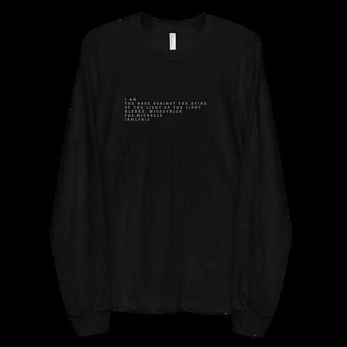 """a poem for lyric"" Long sleeve t-shirt"