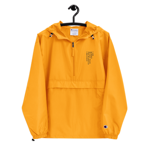"""""""...a poem for lyric""""  [embroidered champion packable jacket]"""