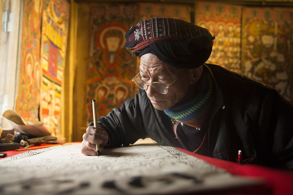 Tibetan scribe