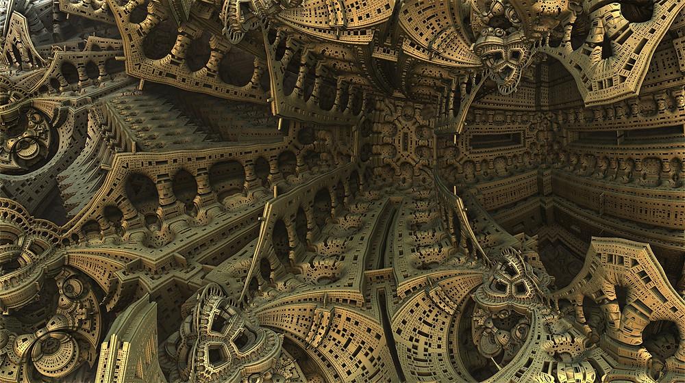 Escher like fractal picture