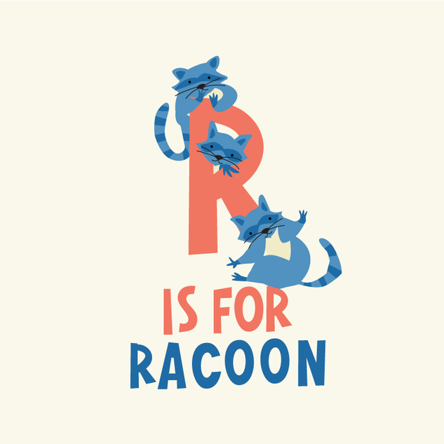 R is for racoon