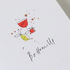 Bloody Mary cocktail card
