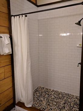 walk in tile shower vacation rental home