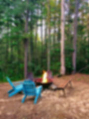 fire pit vacation rental cabin
