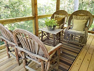 porch furniture rental cabin