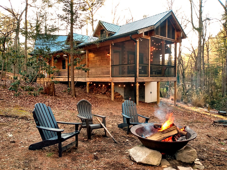 vacation rental cabin fire pit