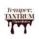 The brand logo, featuring the words 'Temper.TANTRUM Chocolates' with the word chocolates in a drip