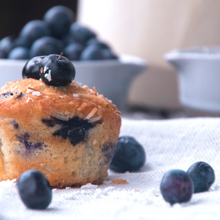 Blueberry and Coconut Muffin