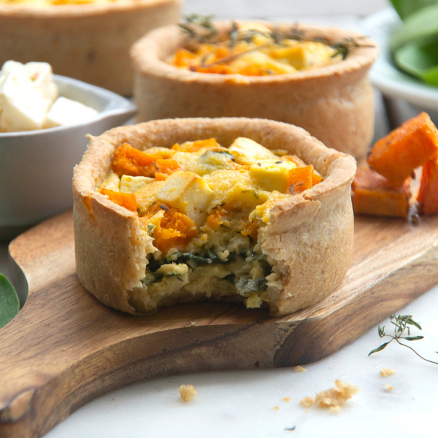 Roast Pumpkin, Spinach and Feta Tart