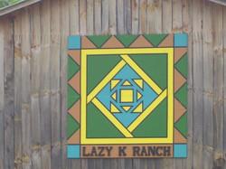 Lazy K Barn Quilt