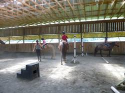 Jumps in the indoor arena