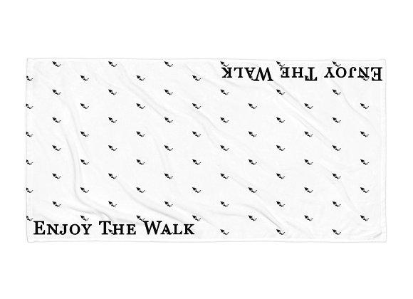 "Enjoy The Walk - Dancing Shadow Man Golf Towel - 30""x60"""