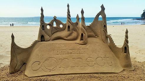 corporate logo sandsculpture.JPG