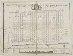 (1822)-Baclé,-J.-C.---Plano-topográfico-de-las-calles-de-Buenos-Aires