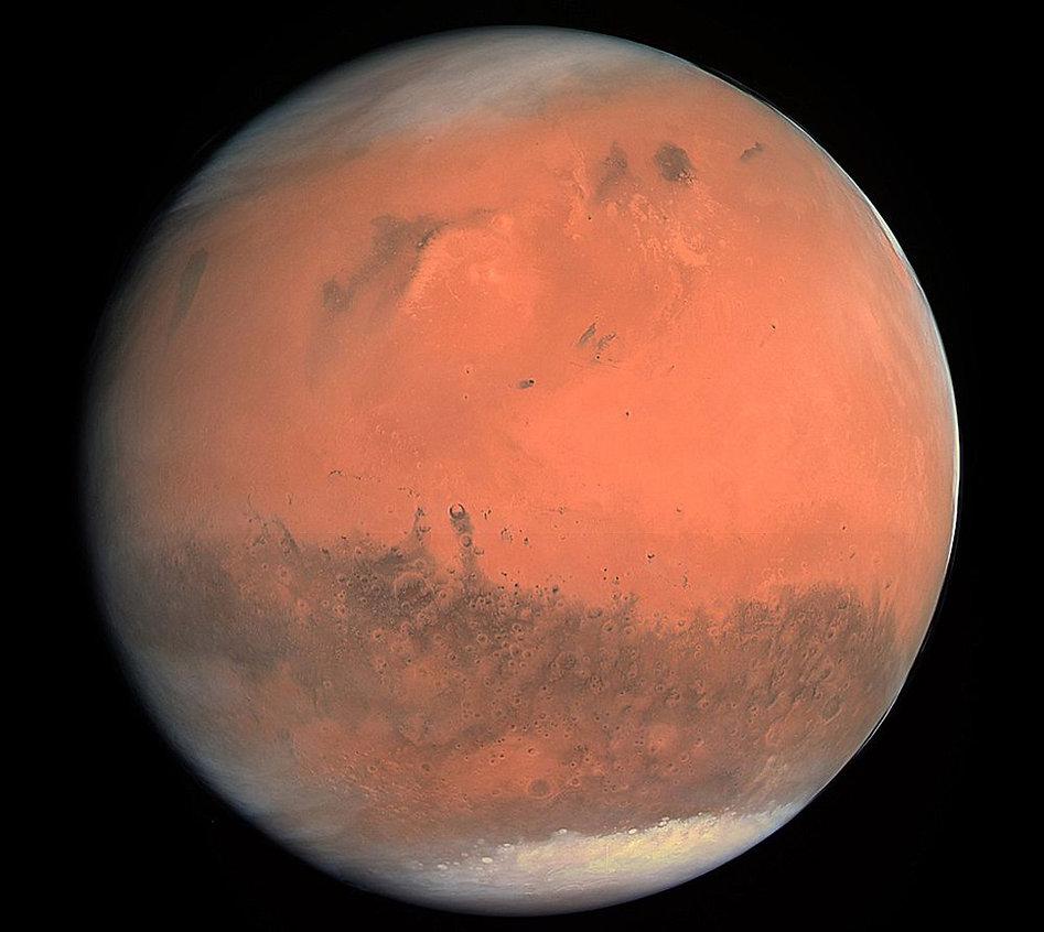 MarsTrueColorOSIRISRosettaSpacecraft2007