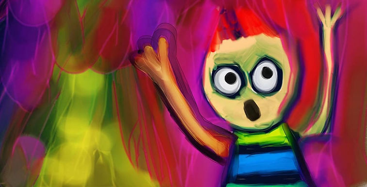 Painting-of-Child-Confused-About-Making-