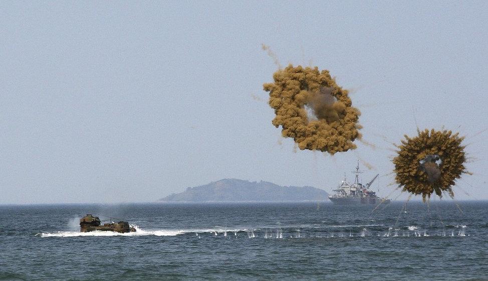 South Korean Marine Corps' amphibious ve