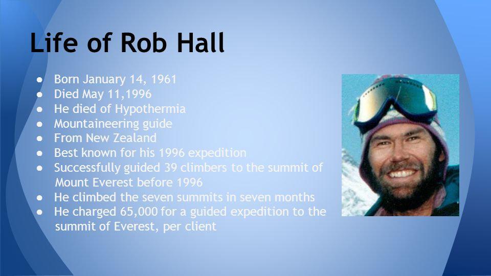 Life+of+Rob+Hall+Born+January+14,+1961+D