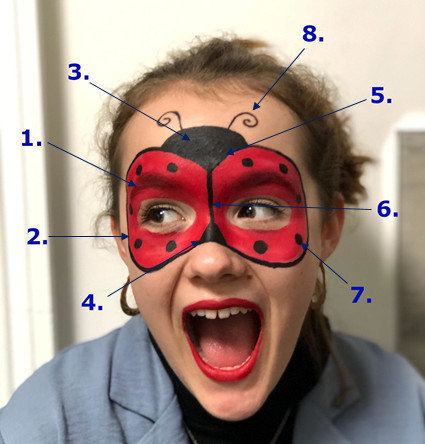 Ladybird Face Paint Guide