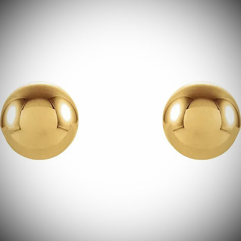 14KT Yellow Gold Ball Stud Earrings