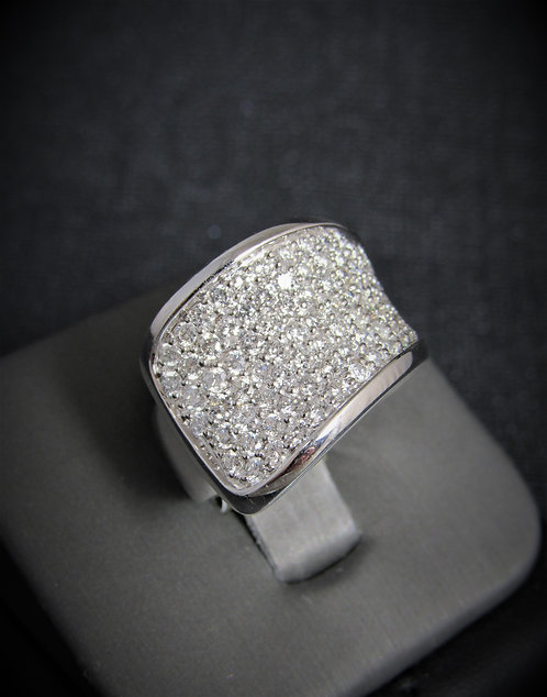 14KT White Gold Diamond Pave Style Ring