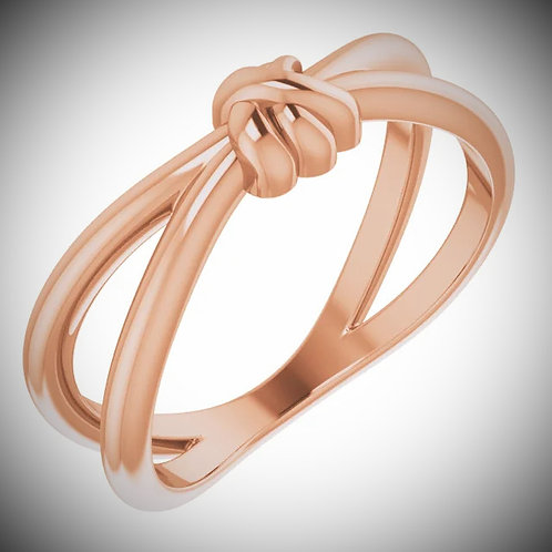 14KT Rose Gold Knot Ring