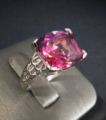 Pink Mystic Topaz Sterling Silver Ring