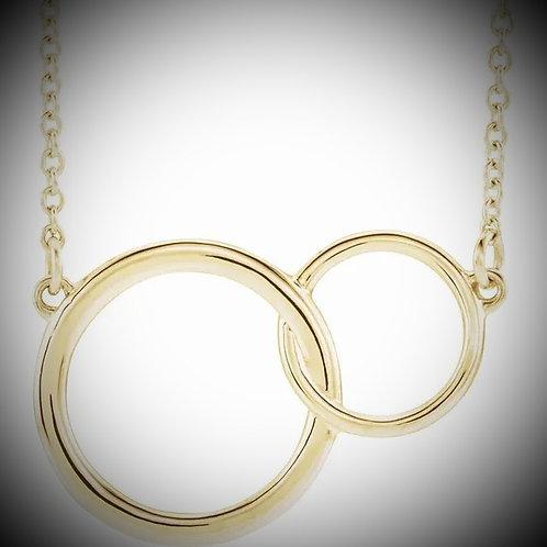 14KT Yellow Gold Interlocking Circle Necklace