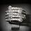 Thumbnail: White Topaz Pavé Hearts Sterling Silver Ring