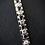 Thumbnail: Blue Sapphire & White Topaz Sterling Silver Tennis Bracelet