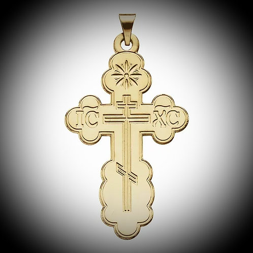 14KT Yellow Gold Orthodox Cross Pendant