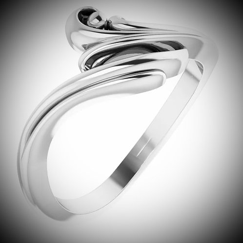 14KT White Gold Freeform Bypass Ring