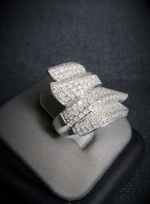14KT White Gold Diamond Pave Set Style Ring