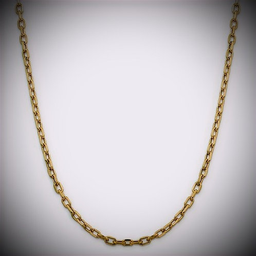 14k Semi-Solid  5mm Open Link Cable Chain