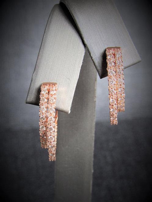 14KT Rose Gold Diamond Diamond Earrings
