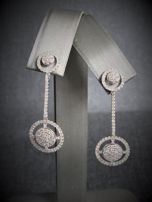 14KT White Gold Diamond Drop Earrings