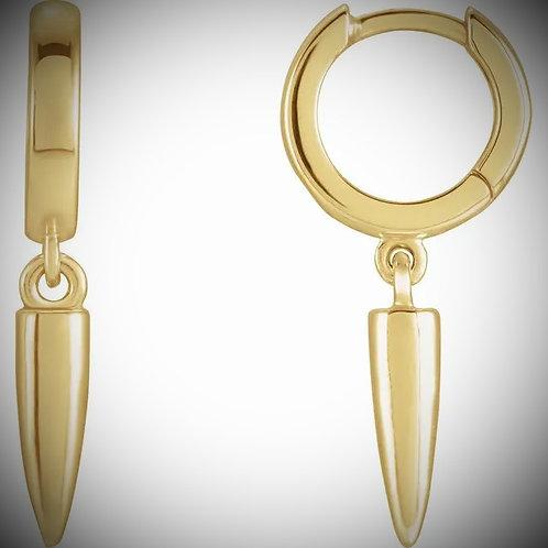 14KT Yellow Gold Hinged Hoop Dangling Earrings