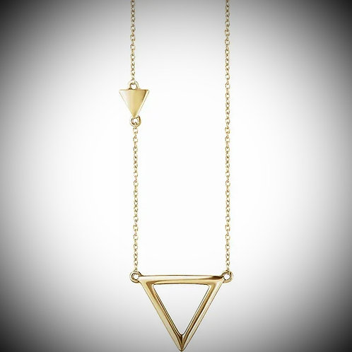 14KT Yellow Gold Triangle Necklace