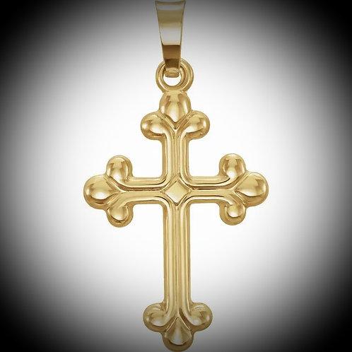 14KT Yellow Gold Hollow Cross Pendant