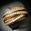 Thumbnail: White Topaz Pavé Bands 18KT Rose Gold Plated Sterling Silver Ring