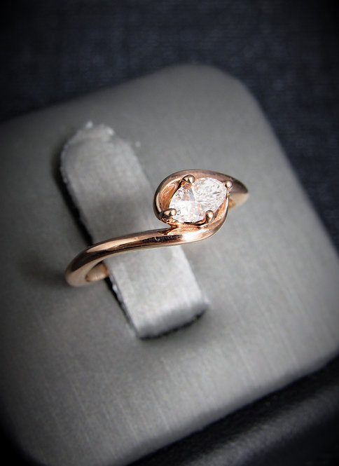 14KT Rose Gold Marquise Cut Diamond Engagement Ring