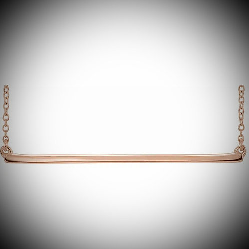 14KT Rose Gold Straight Bar Necklace