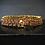 Thumbnail: Three Strand Garnet 14KT Gold Plated Sterling Silver Bracelet
