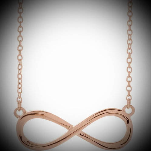 14KT Rose Gold Infinity-Inspired Necklace