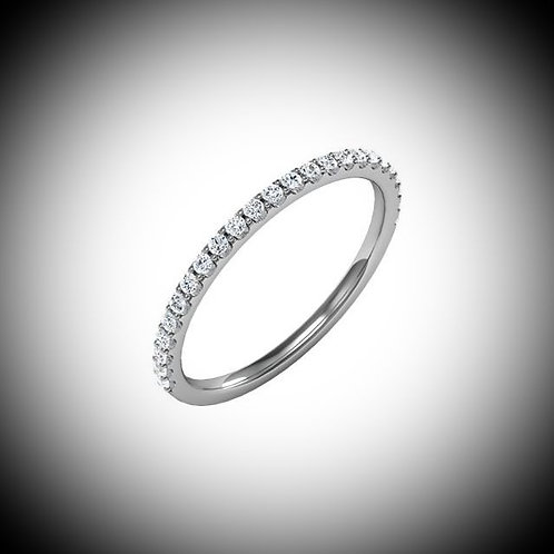 14KT White Gold Diamond Prong Style Band